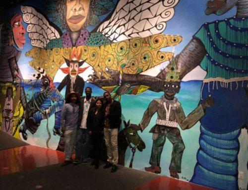 """Costas"", mural que une raíces afro de Panamá y México"