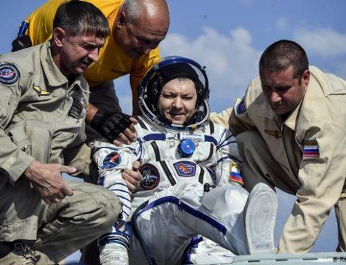 Regresan 3 astronautas a la Tierra, luego de misión en la EEI