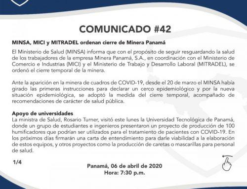 Comunicado #42 por parte del MINSA