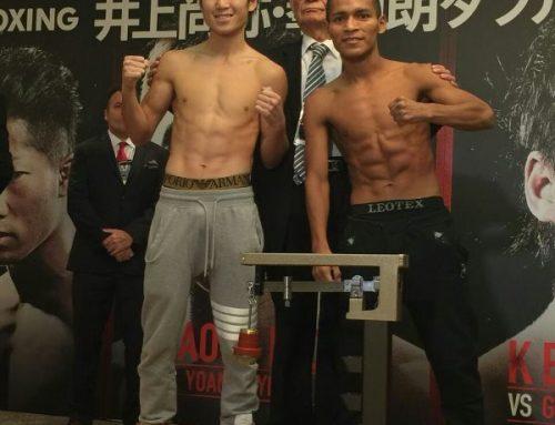 """""""El Cacique"""" Pedroza y el campeón Shiro cumplen con la báscula"""