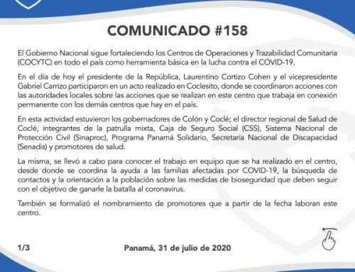 Comunicado # 158