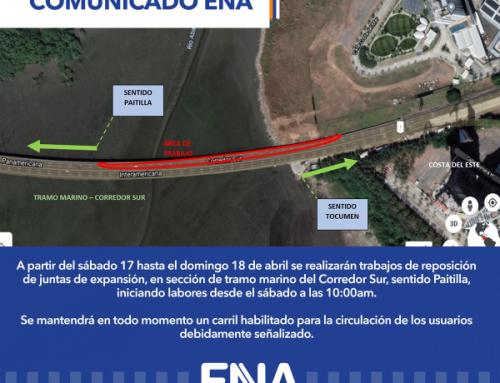 Anuncia cierre parcial en el tramo marino del Corredor Sur, por mantenimiento