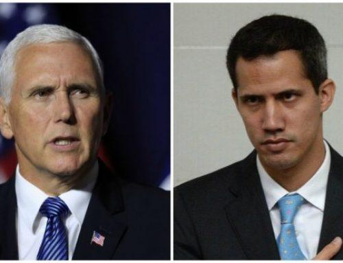 Pence habla con el presidente del parlamento de Venezuela y elogia su liderazgo.