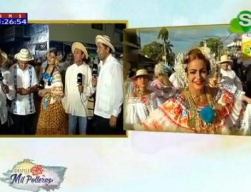Desfile de las Mil Polleras es transmitido por la pantalla de Sertv