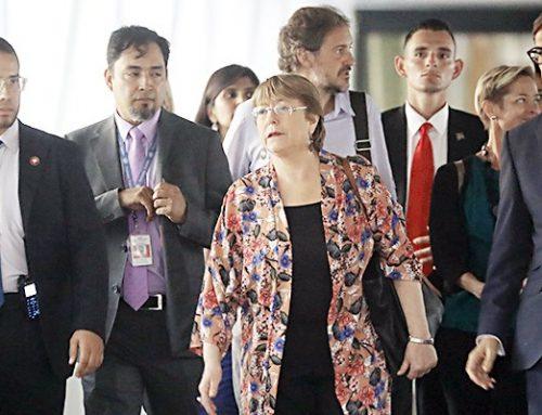 Bachelet inició visita a una Venezuela devastada por la crisis