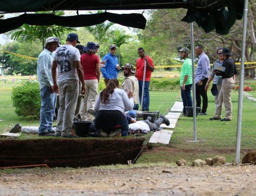 Ministerio Público culmina proceso de exhumación de restos de víctimas de la Invasión y pasa a la siguiente fase.